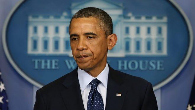 President Obama speaks about the bombing at the Boston Marathon on Monday.