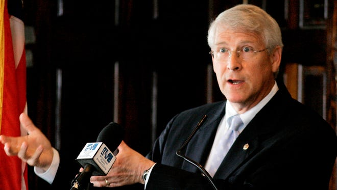 An envelope sent to Sen. Roger Wicker, R-Miss., pictured here in 2008, tested positive for the poison ricin.