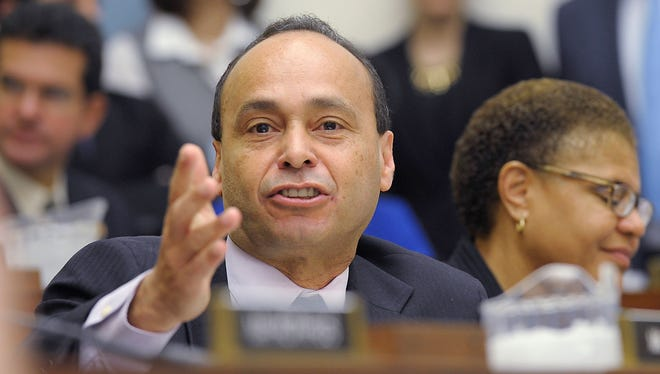 House Judiciary Committee member Rep. Luis Gutierrez, D-Ill., gives his opening remarks on Capitol Hill  Feb. 5 during the committee's hearing on immigration.