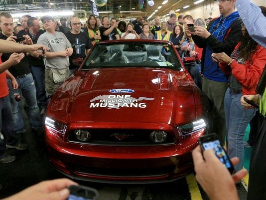 Millionth Mustang
