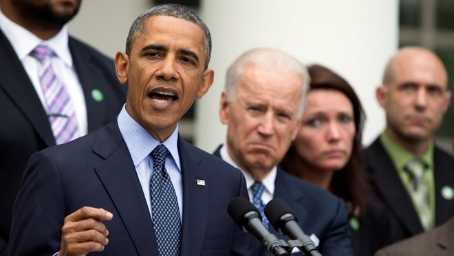 President Obama speaks Wednesday about measures to reduce gun violence.