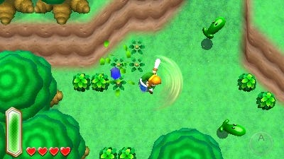 A scene from the next 'The Legend of Zelda' video game for the Nintendo 3DS.