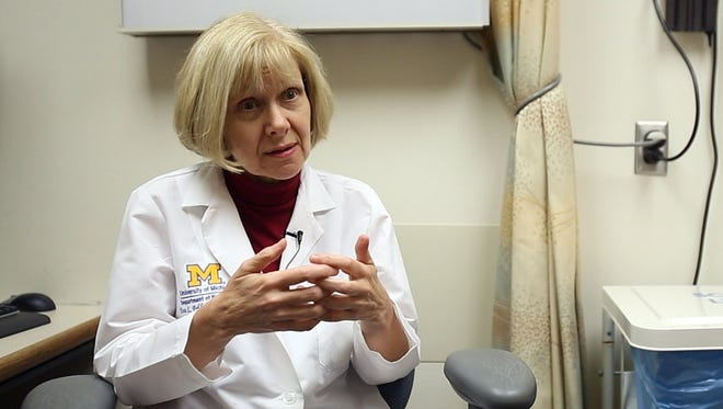 Dr. Eva Feldman, professor of neurology at the University of Michigan, is the principal investigator of the first clinical trial of intraspinal transplantation of stem cells in patients with ALS. Feldman is photographed at the University of Michigan Taubman Center in Ann Arbor, Mich. on Wednesday, July 25, 2012.