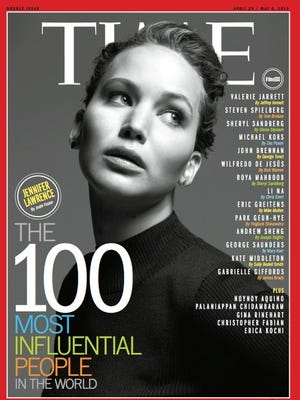Jennifer Lawrence  and Jay-Z are among the seven covers for Time magazine's 100 Most Influential People list for 2013.