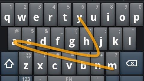 The Swype keyboard.