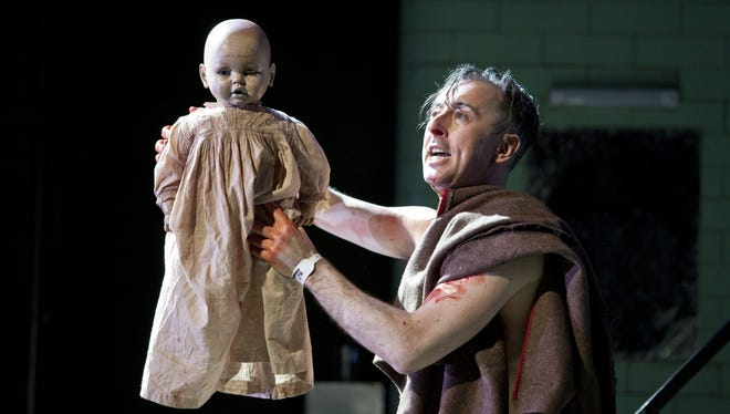 Alan Cumming stars in a one-man interpretation of 'Macbeth,' at the Ethel Barrymore Theatre in New York City.