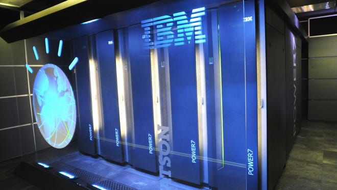 IBM share fell more than 8% Friday after reporting disappointing earnings.