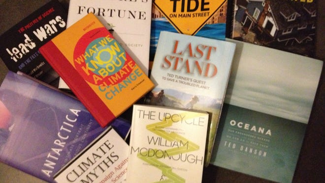 In honor of Earth Day 2013, USA TODAY selects a dozen new books about the environment that offer tales of adventure, innovative ideas and cogent analyses of lingering problems -- whether climate change, toxic chemicals or ocean pollution.