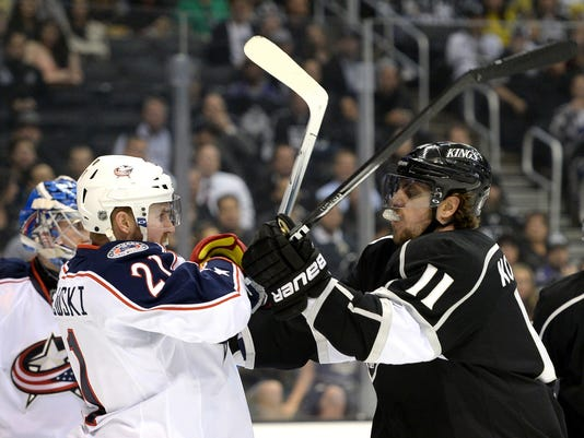 promo code 3f58d b6868 LA Kings slow Blue Jackets' roll with victory