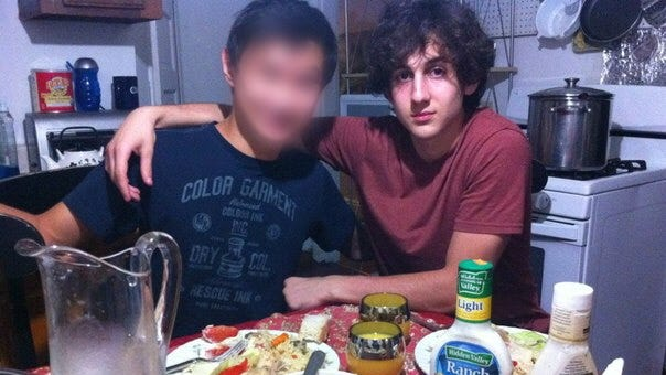 Dzhokhar Tsarnaev, a suspect in the Boston Marathon bombing, is shown in a photo from his Russian social media site account.