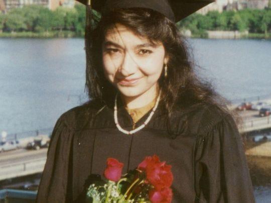 Aafia Siddiqui is shown after her graduation from Massachusetts