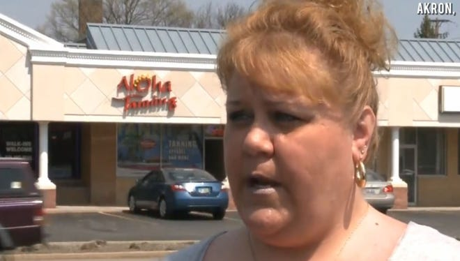 Kelly McGrevey said she was sold a tanning package at an Akron-area salon then told that she weighed too much to use the beds.