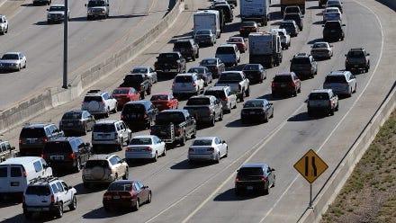 Interstate 25 in Denver.