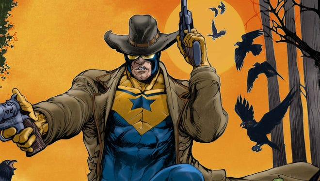 Futuristic hero Booster Gold comes to the Wild West and meets Jonah Hex in 'All-Star Western.'