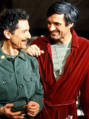 Alan Arbus, left, and Alan Alda on the late 1970s TV program, 'M*A*S*H.'