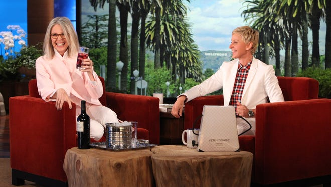 Diane Keaton laughs her way through an interview with Ellen on today's show.