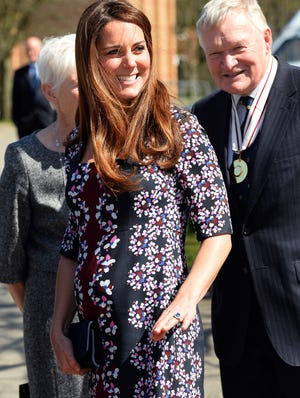 Catherine Duchess of Cambridge arrives at Manchester primary school to launch a new charity project.