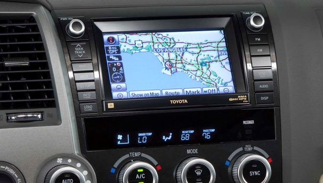 The infotainment system in a 2009 Toyota Sequoia SUV shows all the choices that drivers have when it comes to controls on screens.