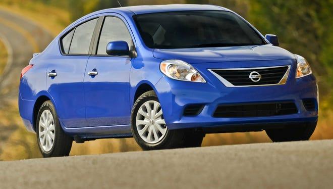 The 2014 Versa sedan is Nissan's most inexpensive model