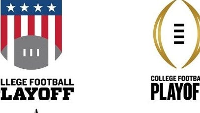 Four prospective logos for the new College Football Playoff are up for fan voting.