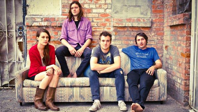 Family of the Year: Christina Schroeter, left, Joseph Keefe, Sebastian Keefe and James Buckey.