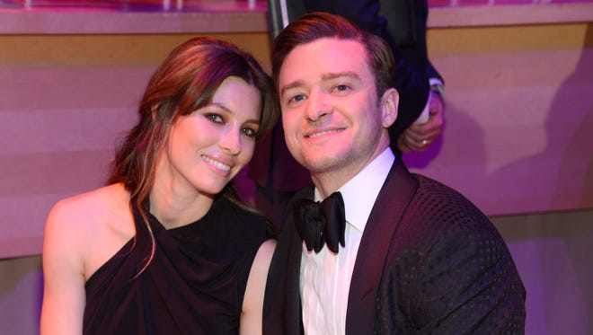 Jessica Biel and Justin Timberlake attend TIME 100 Gala at Jazz at Lincoln Center on April 23.