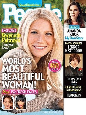 Gwyneth Paltrow tops 'People' mag's Most Beautiful list.