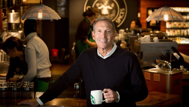 Starbucks may be at the top of its game but success means never standing still, says CEO Howard Schultz.