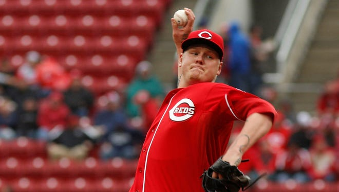 Reds pitcher Mat Latos retired the first 10 batters and 15 of the first 16 he faced.