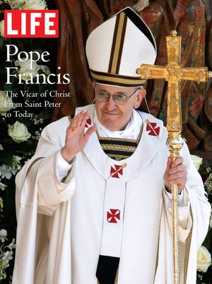 'Pope Francis: The Vicar of Christ From Saint Peter to Today' is from 'LIFE' magazine.