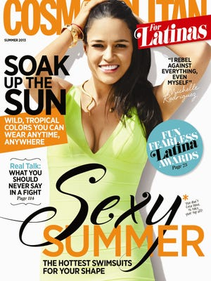 Michelle Rodriguez steams up the Summer 2013 cover of 'Cosmopolitan for Latinas.'