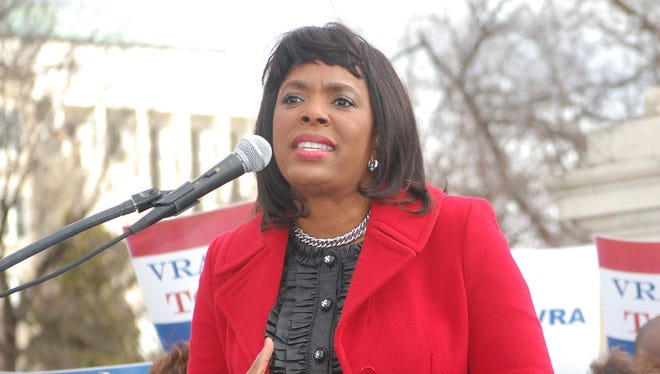 Rep. Terri Sewell, D-Ala., speaks in Washington on Feb. 27. She is the lead sponsor of legislation that would posthumously award the Congressional Gold Medal to four girls killed in a 1963 Birmingham, Ala., church bombing.