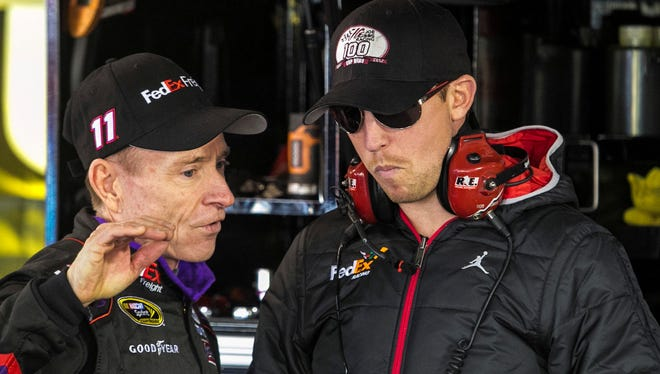 Denny Hamlin (right) said Wednesday of installing more SAFER barriers: 'Somebody needs to cut their profit margin and contribute to making our sport safer.'
