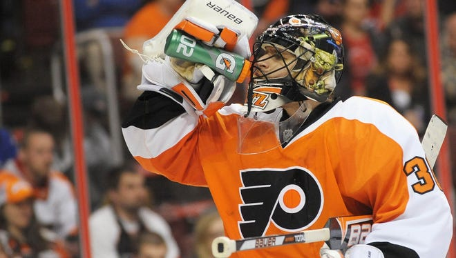 Flyers goalie Ilya Bryzgalov has a 2.84 goals-against average and .898 save percentage on the year.