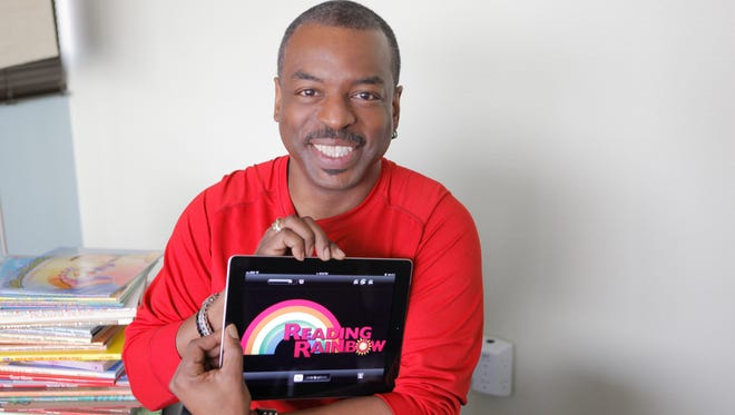 Actor Levar Burton has brought the old PBS 'Reading Rainbow' show back to life as an iPad app.