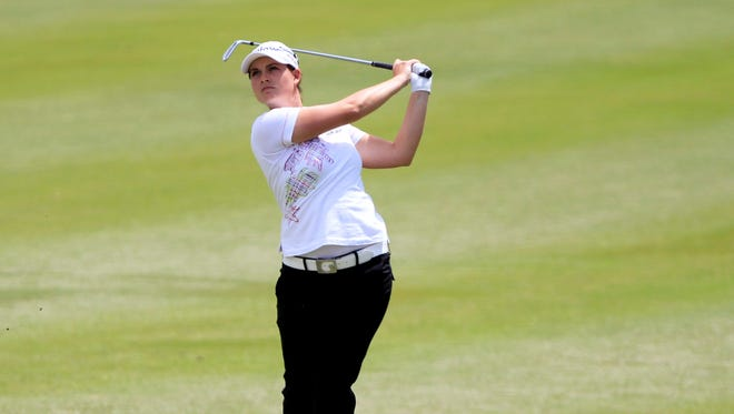 Caroline Masson of Germany grabs the first-round lead in the North Texas LPGA Shootout with a 7-under 64.