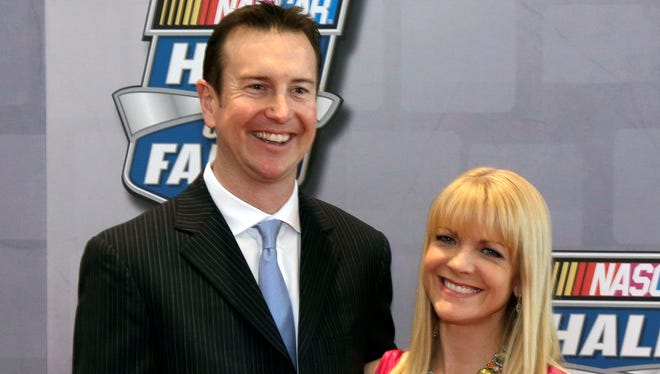 Kurt Busch's girlfriend Patricia Driscoll is head of the Armed Forces Foundation.