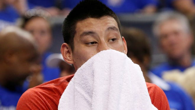 Houston Rockets guard Jeremy Lin has a bruised chest muscle.
