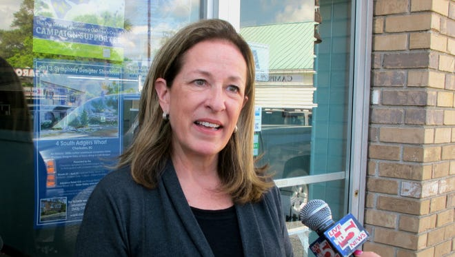 Elizabeth Colbert Busch  is running against Mark Sanford in a special congressional election.