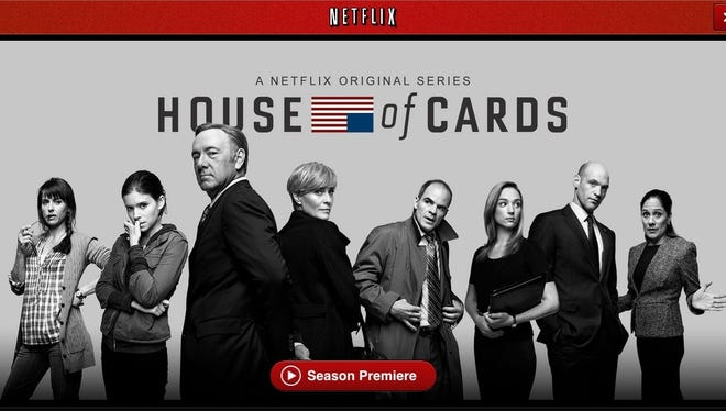 A screenshot from the Netflix app for iPad showing the original TV show 'House of Cards.'