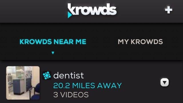 The krowds app.
