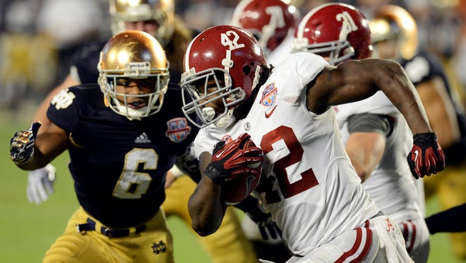 Crimson Tide runners had been drafted in Round 1 of the 2011 and 2012 drafts. But Eddie Lacy didn't make it three in a row.