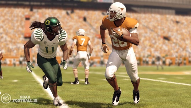 Images like this from EA Sports' NCAA Football '12 video game are at the heart of a likeness suit against the entertainment company and NCAA.