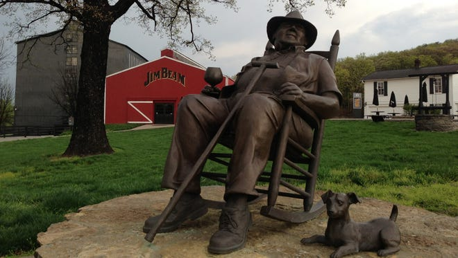 The Jim Beam distillery, only a half-hour drive south of Louisville, is a popular stop on Kentucky's bourbon trail.