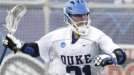 Junior Jordan Wolf has had at least one point in each of the last 35 games for Duke, dating to a national semifinal loss to Maryland in May 2011.
