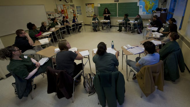 """The """"Theories of Justice"""" class meets at Bedford Hills Correctional Facility in New York's Westchester County."""