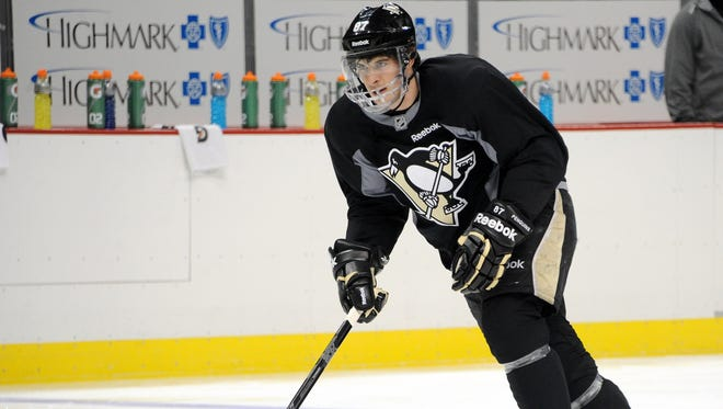 Pittsburgh Penguins star Sidney Crosby practiced Friday, but his return remains uncertain.