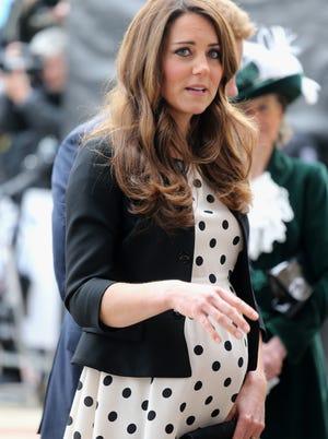 Catherine Duchess of Cambridge at the Warner Bros studio in Hertfordshire, England.