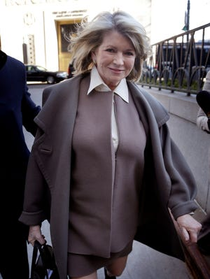 Martha Stewart on the streets of New York on March 5.