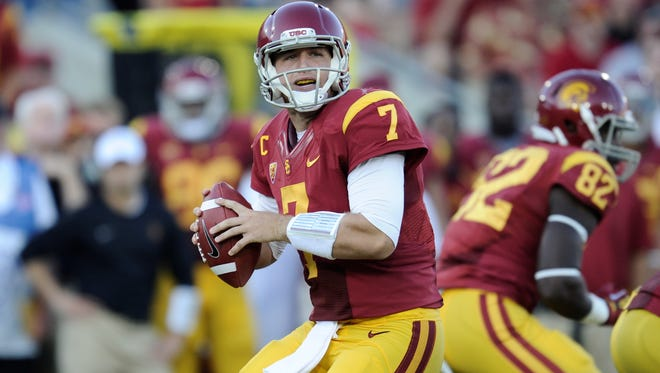 A projected top-10 pick had he entered the 2012 draft, former Southern California quarterback Matt Barkley was picked in the fourth round Saturday.